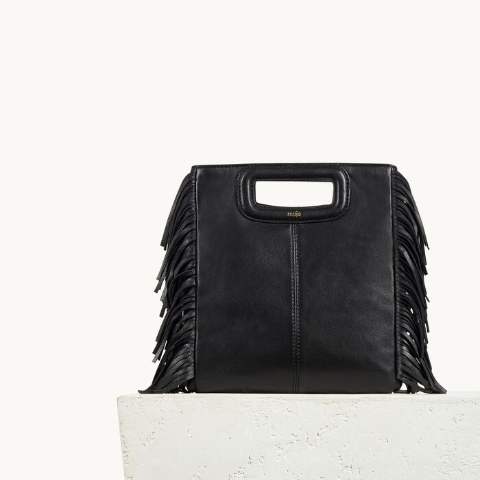 Leather bag with fringing - All bags - MAJE