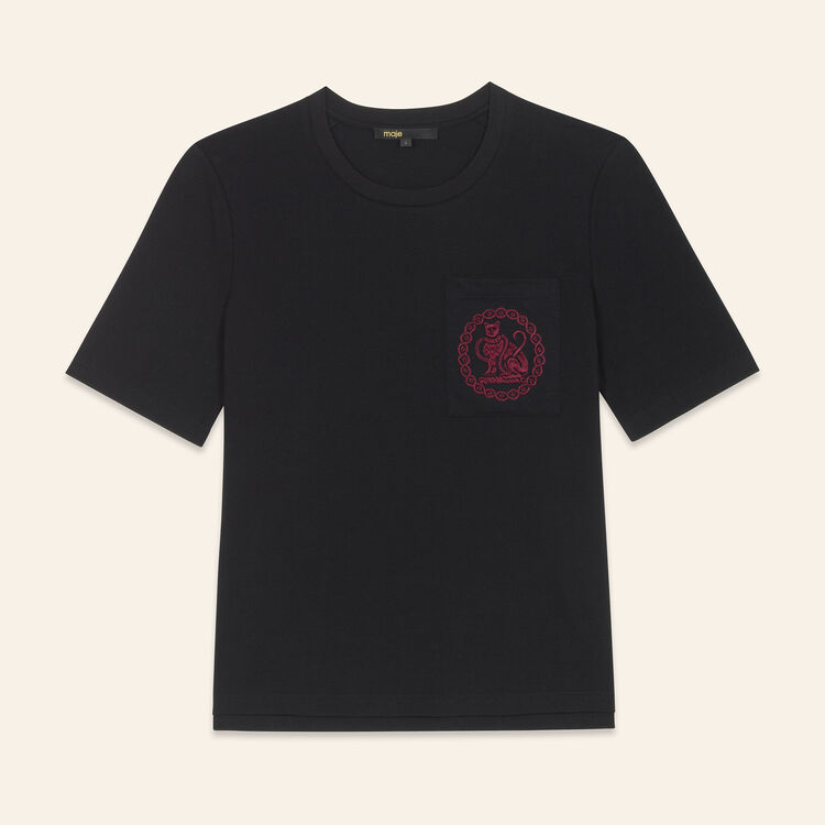Cotton T-shirt - Tops & T-Shirts - MAJE
