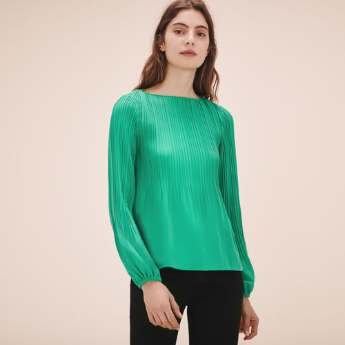 Top with pleating - Tops & T-Shirts - MAJE