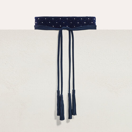 Wide tie belt with studs - Belts - MAJE