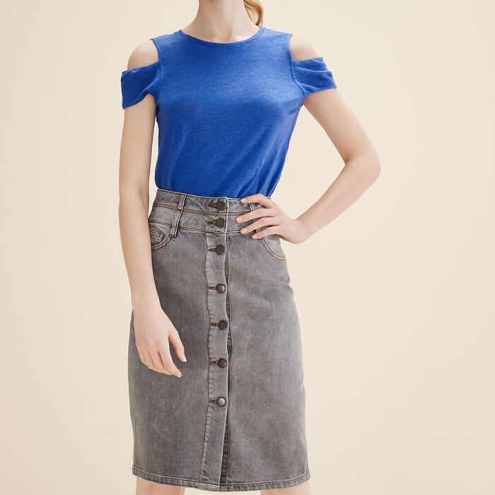 Denim pencil skirt -  - MAJE