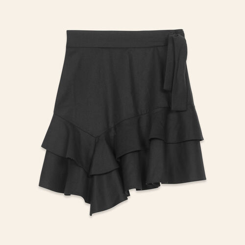 Short flounced skirt - Skirts & Shorts - MAJE