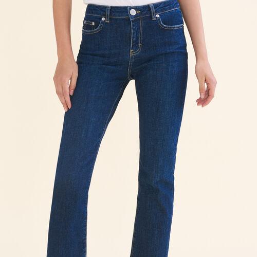Vaquero 7/8 de algodón stretch - Pantalones - MAJE