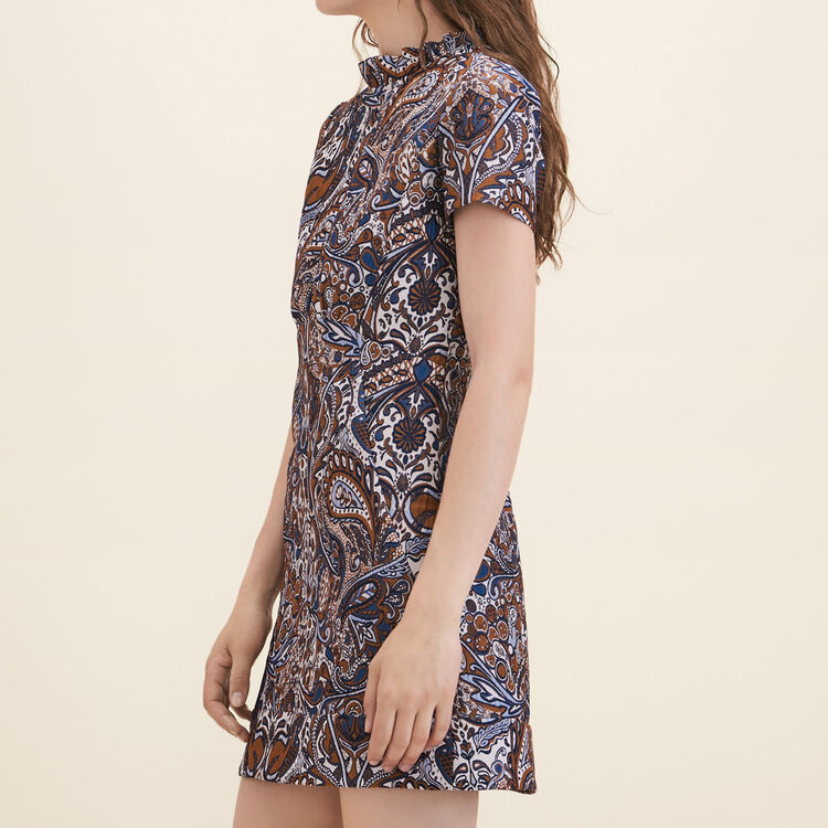 Jacquard straight-cut dress - Dresses - MAJE