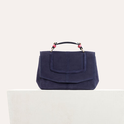 Mini satchel in two-tone suede - Shoulder bag - MAJE