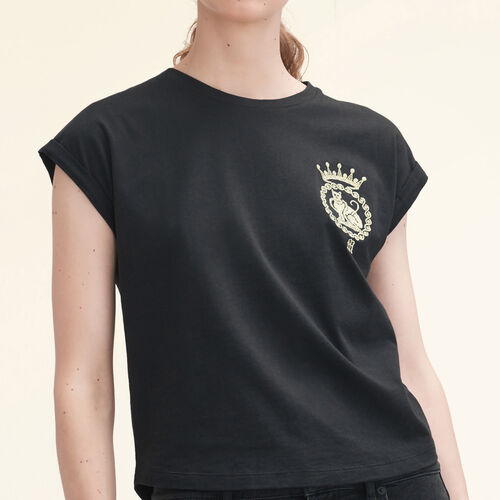 T-Shirt aus Baumwolle - Tops - MAJE