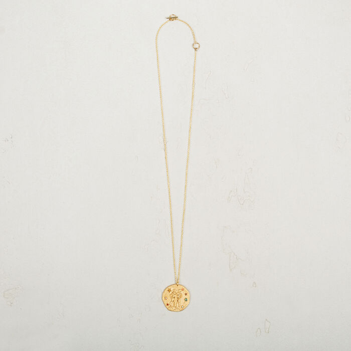 Gemini zodiac sign necklace -  - MAJE