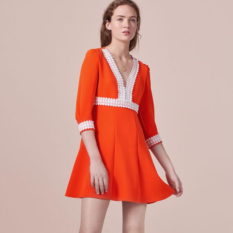 Robe courte en crêpe - Robes - MAJE