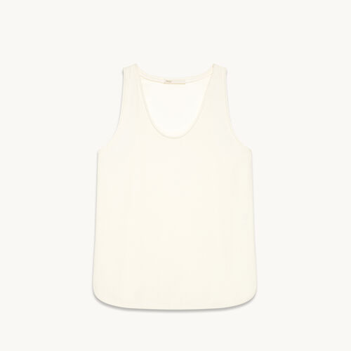 Camiseta sin mangas de crepé - Tops - MAJE