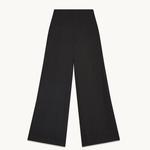 Pantalon large en toile - Pantalons - MAJE