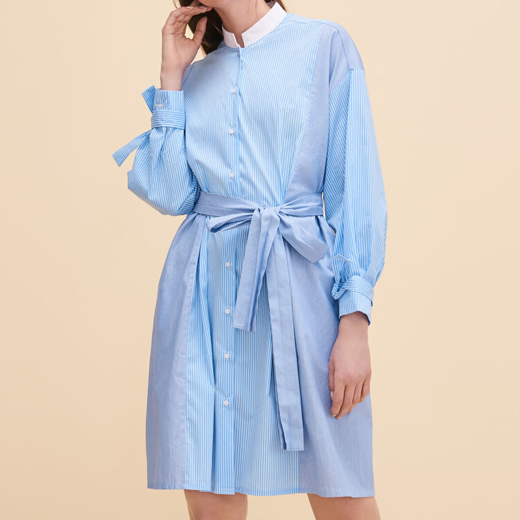 Robe chemise à rayures - Robes - MAJE