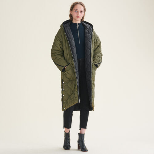 Long checked coat - Coats - MAJE