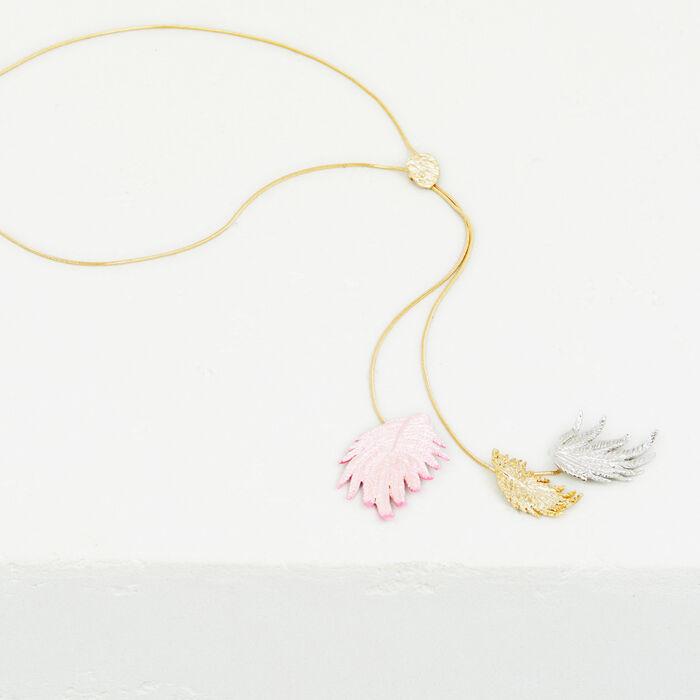Palm tree leaf necklace - Jewelry - MAJE
