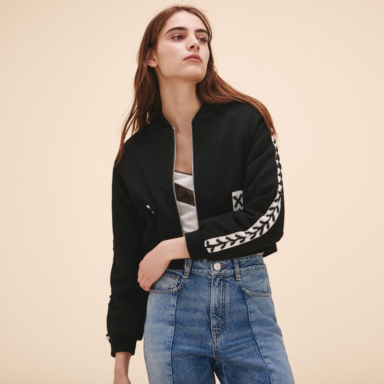 Bomber jacket with lacing - Jackets & Bombers - MAJE