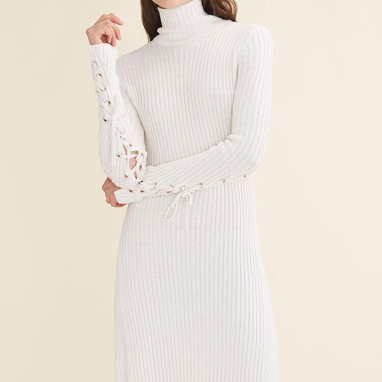 Robe longue en maille tube - Robes - MAJE