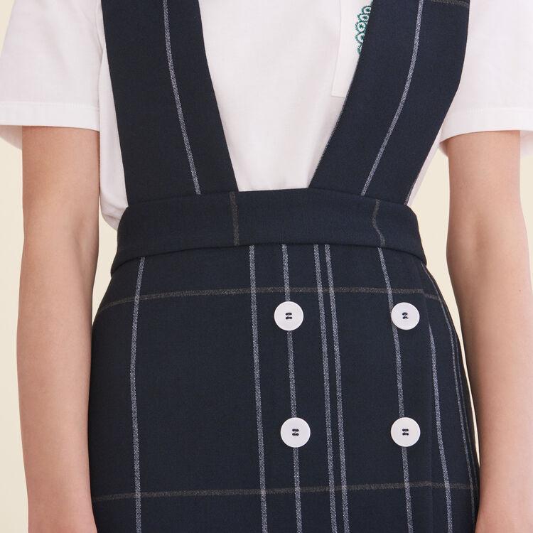 Tartan skirt with braces - Skirts & Shorts - MAJE