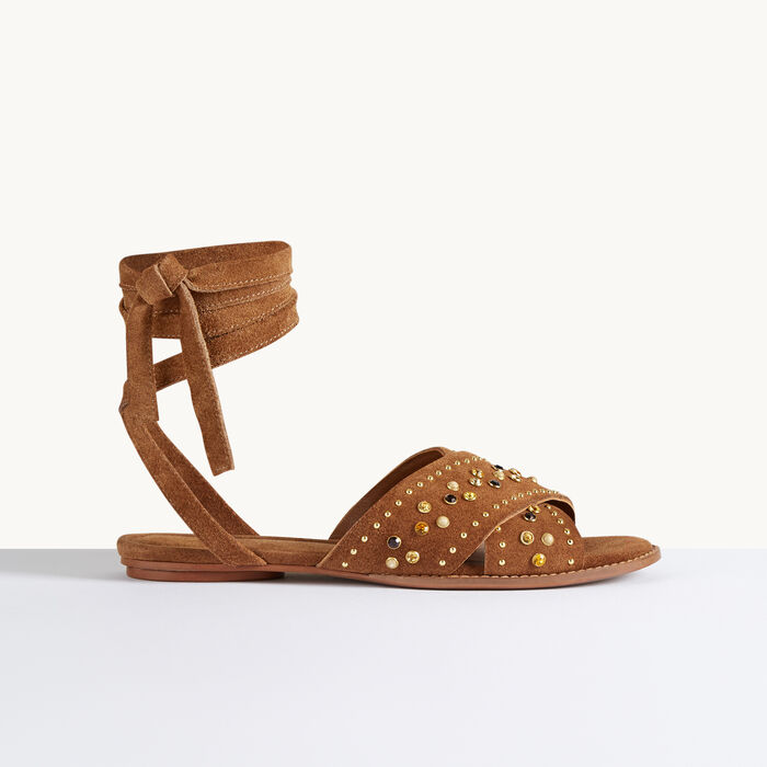 Flat sandals with studs - Modern Safari - MAJE
