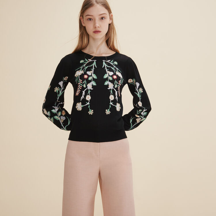 Embroidered jumper - Knitwear - MAJE