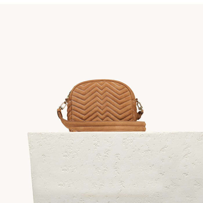 Round quilted leather bag -  - MAJE