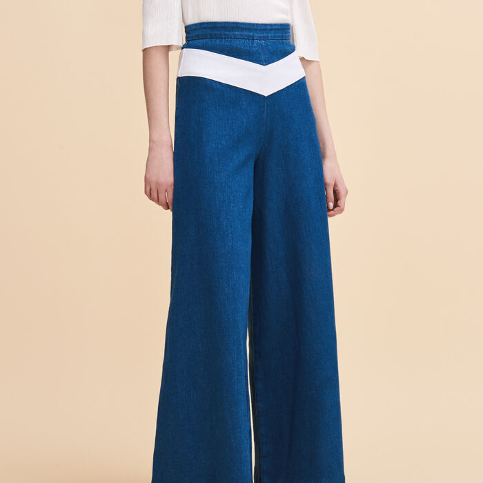 Denim culottes - Pants & Jeans - MAJE