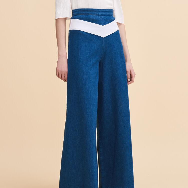Jupe culotte en jean - Jeans - MAJE