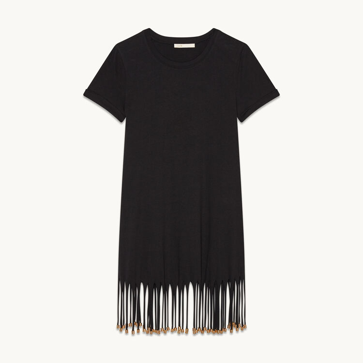 Dress with iridescent fringing - Dresses - MAJE