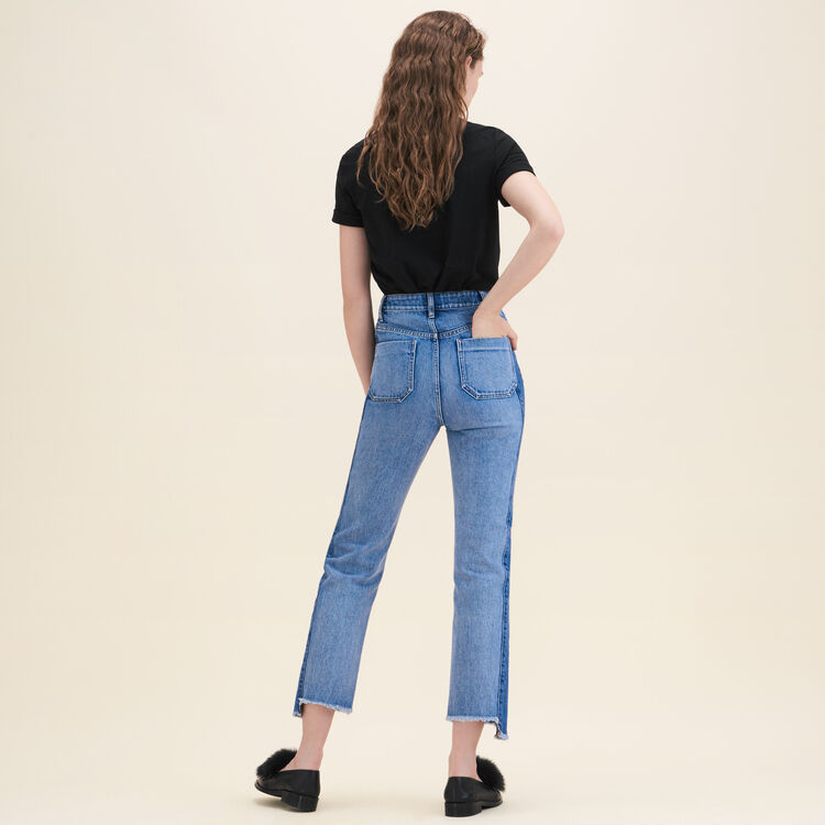 Jeans straight in denim délavé - Jeans - MAJE