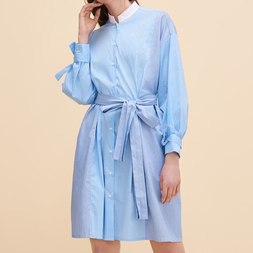 Striped shirt dress - Dresses - MAJE