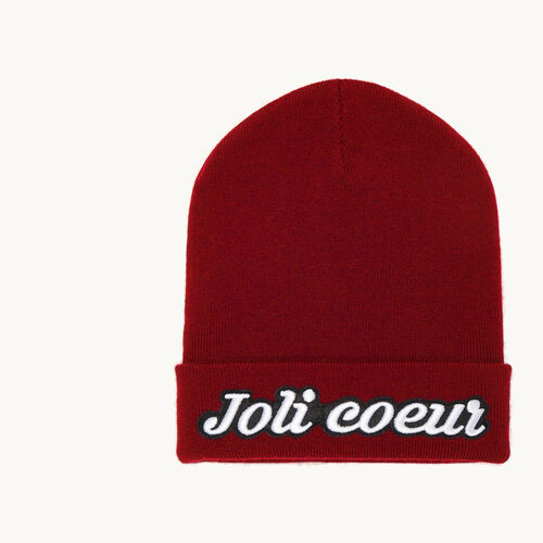 Beanie with embroidered crest - Accessories - MAJE