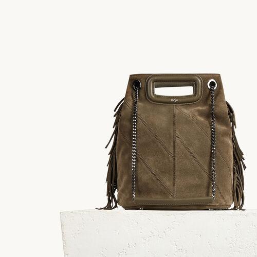 Suede leather bucket bag - Handbags & Purses - MAJE