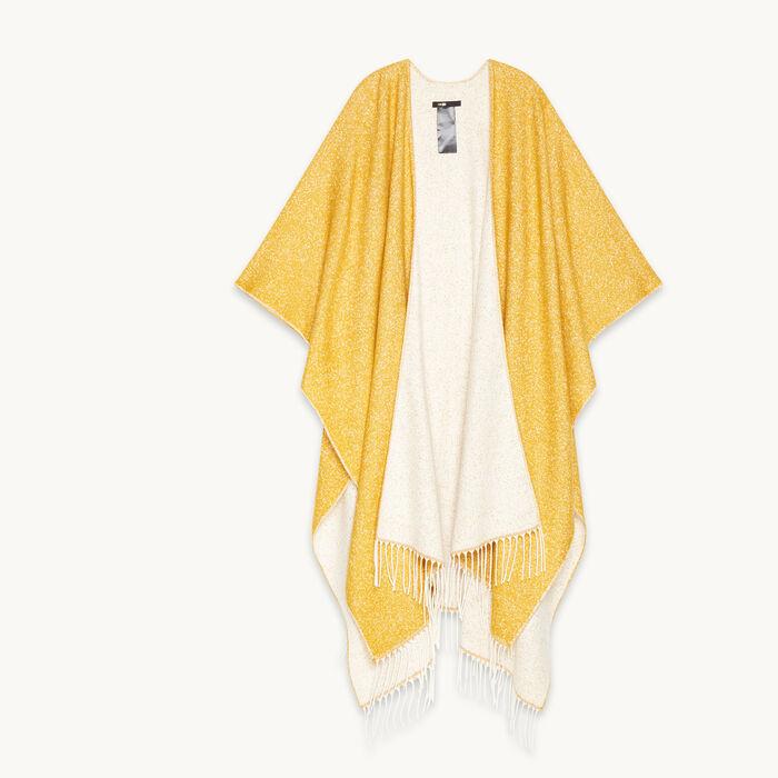 Mottled poncho-style scarf -  - MAJE