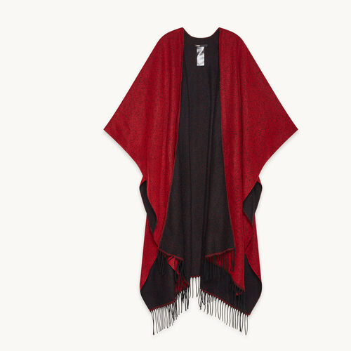 Mottled poncho-style scarf - New in - MAJE