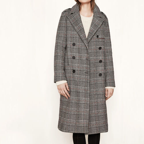 Long military-style coat - Coats - MAJE