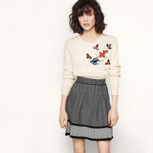 Jacquard knit short skirt - Skirts & Shorts - MAJE