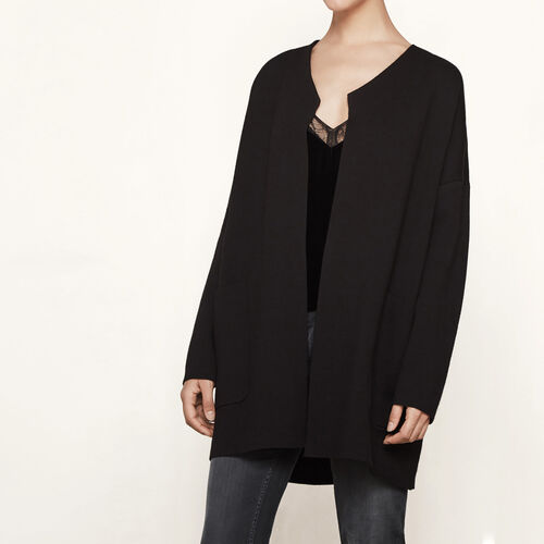 Oversized locknit cardigan - Knitwear - MAJE