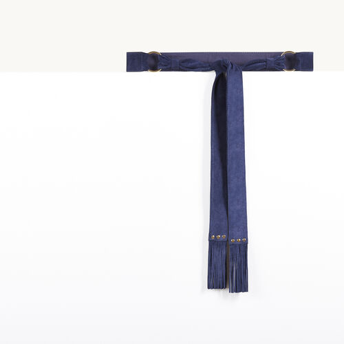 Goatskin suede tie belt - Private Sale - MAJE