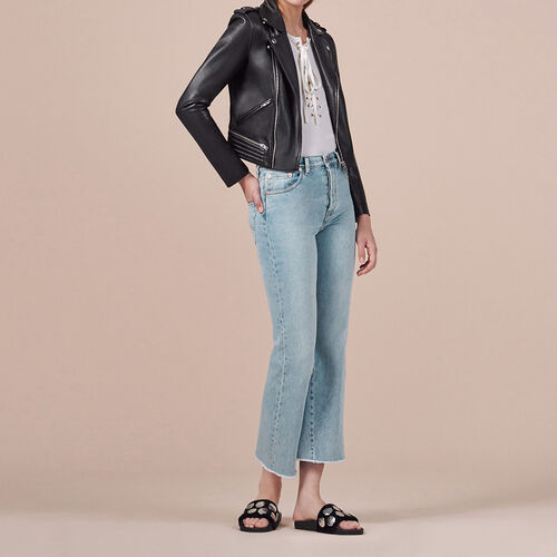 Flared cotton jeans - Trousers & Jeans - MAJE