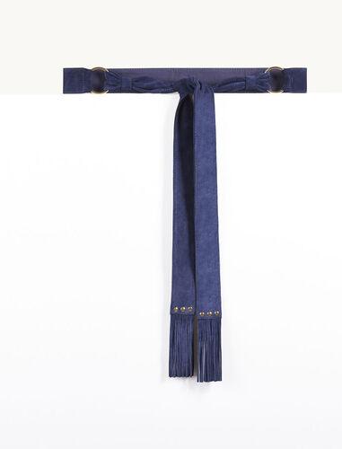 Goatskin suede tie belt - Private Sale - MAJE