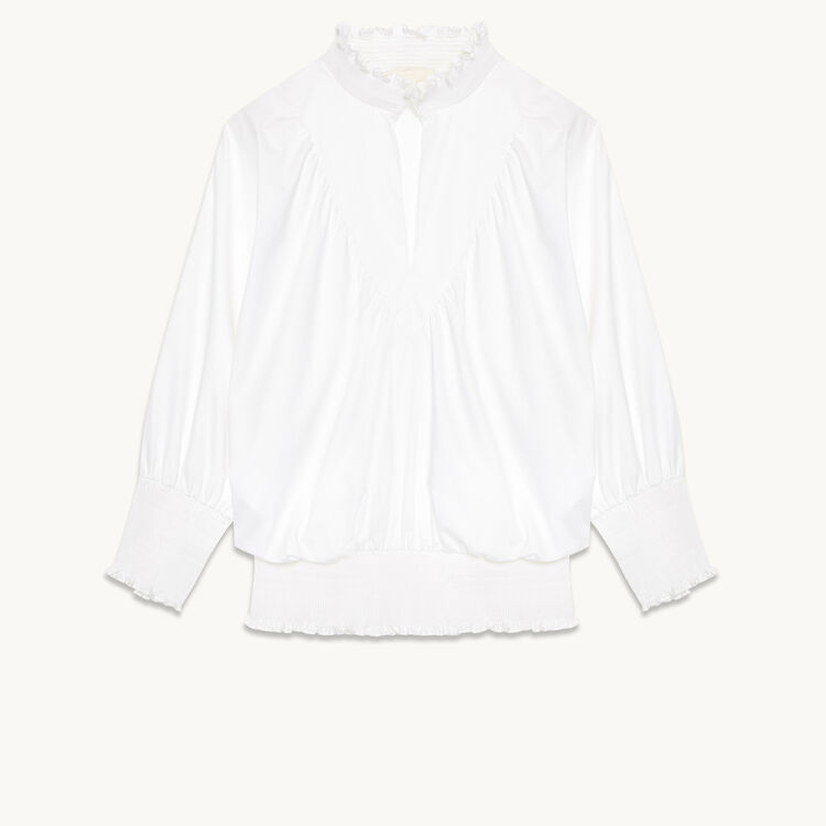 Cotton blouse - Tops & Shirts - MAJE