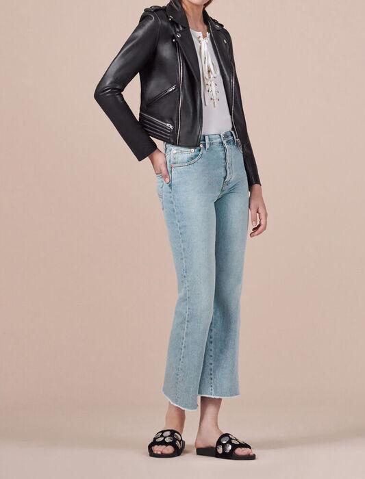 Flared cotton jeans - Pants & Jeans - MAJE