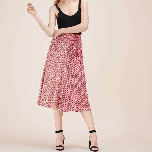 Falda de largo medio estampada - Faldas y shorts - MAJE