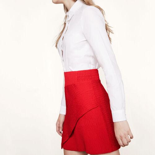 Falda corta asimétrica - Faldas y shorts - MAJE