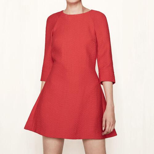 Vestido corto con detalles anudados - Vestidos - MAJE