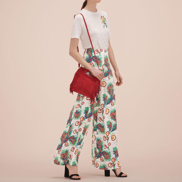 Pantalon large imprimé - Pantalons & Jeans - MAJE