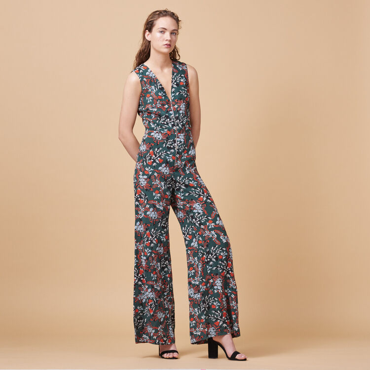 Combinaison-pantalon imprimée - Pantalons & Jeans - MAJE