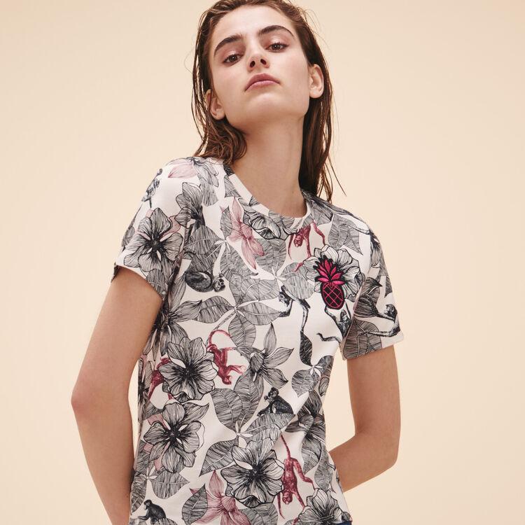 Tee-shirt imprimé - Hauts - MAJE