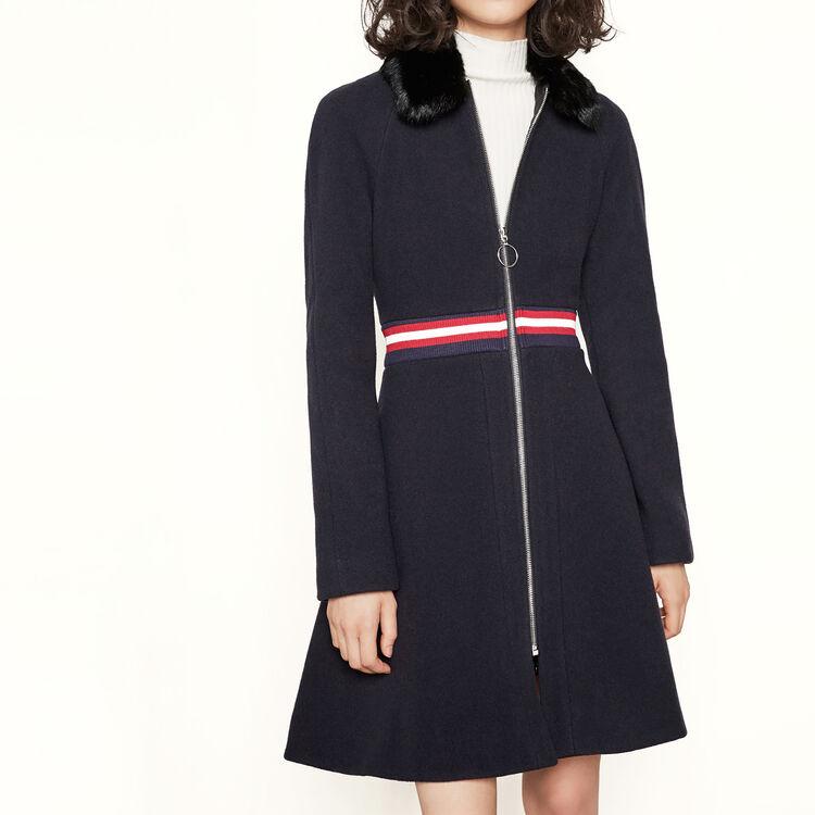 Manteau avec col en fourrure - Manteaux - MAJE