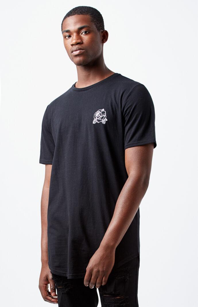 PacSun Kilian Scallop T-Shirt - Black 7020464