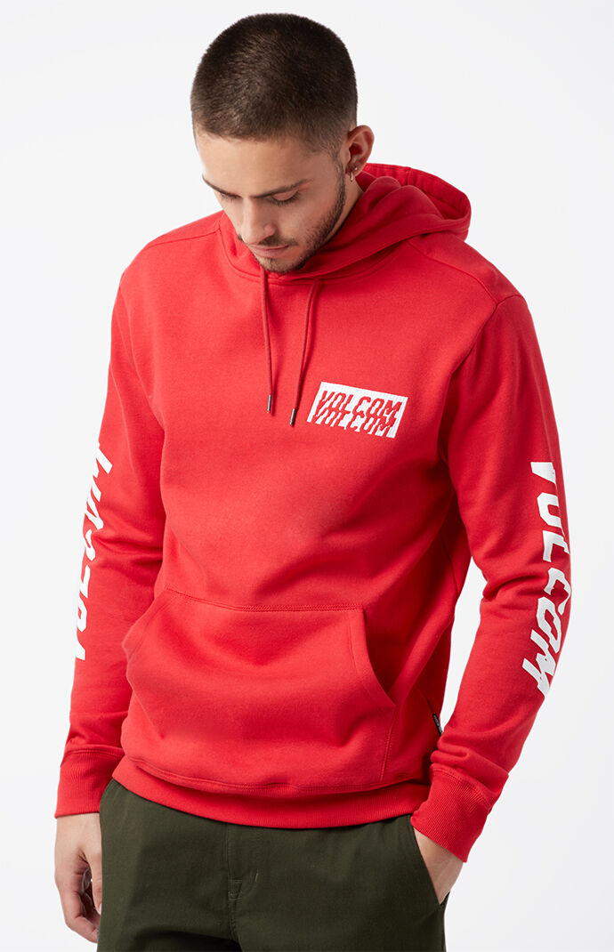 Volcom Supply Stone Pullover Hoodie - RED 6683239