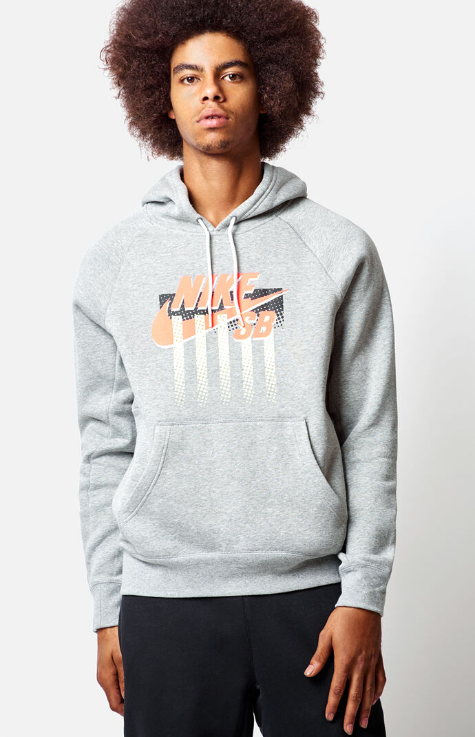 Nike SB J Block Pullover Hoodie - Heather Grey 7079452